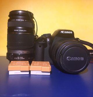 Canon 550D con 2 objetivos