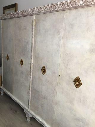 Armario vintage blanco desmontable