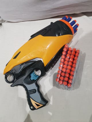 nerf tag 10 pistola y 50 proyectiles