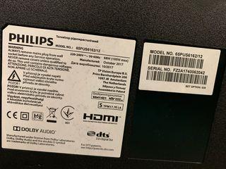 "Tv 65"" Philips 6100 Series. Pantalla Rota."