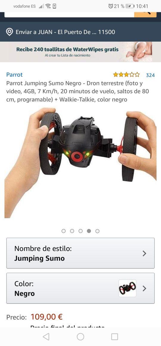 DRON TERRESTRE ESPÍA SALTADOR