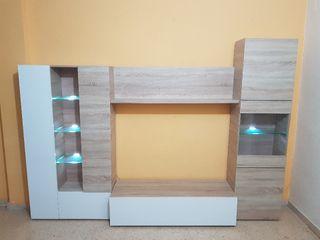 mueble seminuevo 10 meses de uso, luces de led.