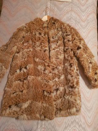 abrigo de piel de lince