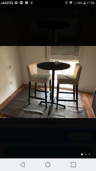 mesa alta + taburetes altos