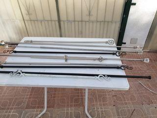 lote de 10 barras para colgar cortinas