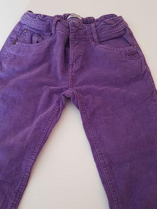 Lote 4 pantalones niña T 10-11