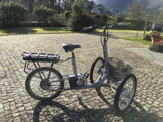 Bicicleta eléctrica 3 ruedas full aluminio