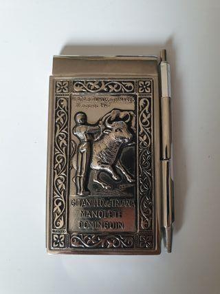 Libreta cartel de Toros Historico