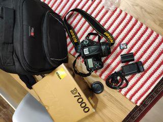 Pack completo NIKON D7000 objetivo fijo de 50 mm