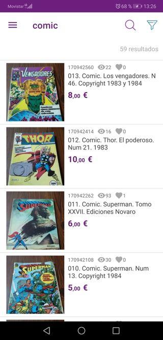 Comics. Spiderman. Manga. Superman