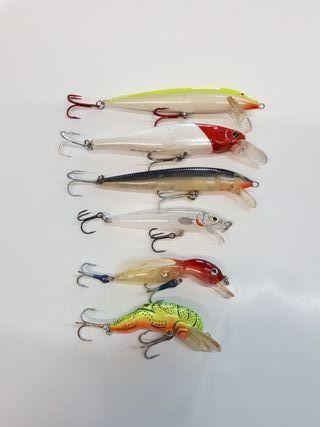 6Rapalas señuelos artificiales pesca