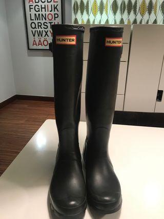 Botas lluvia hunter con calcetines