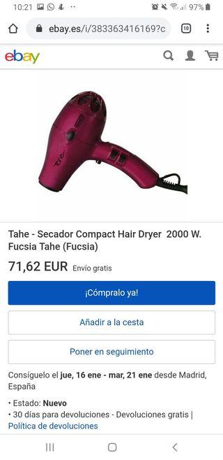 Secador Hair Dryer 2000W Tahe