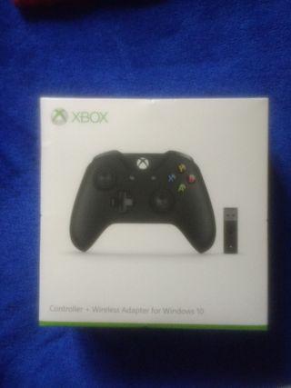 Mando Xbox One + adaptador inalámbrico