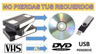 PASAR VIDEOS DE VHS A DVD O DIGITAL Y CINTAS Hi8mm
