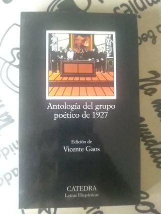 Libro Antología del grupo poético de 1927