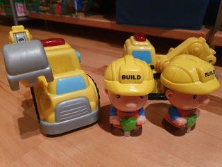 juguete (excavadoras + muñecos)