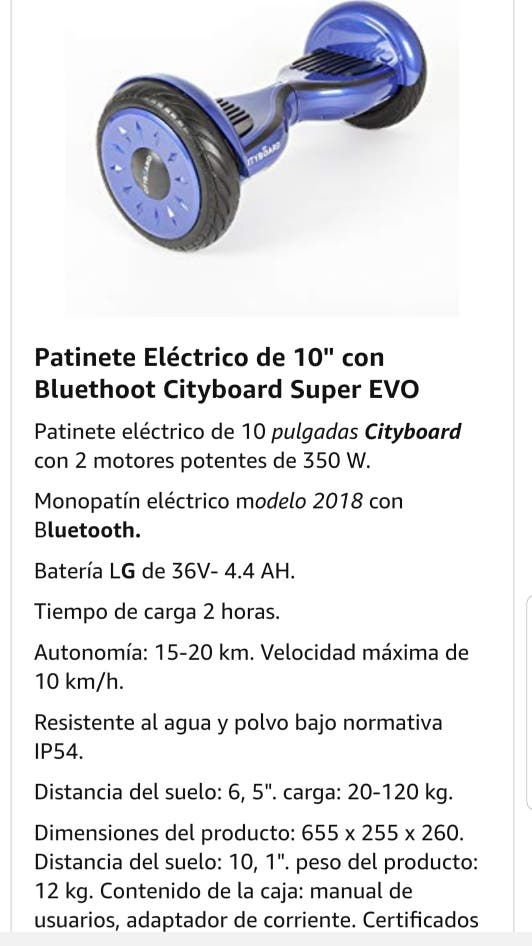 """hoverboard cityboard impecable 10"""""""