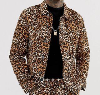 chaqueta Leopardo vaquero hombre