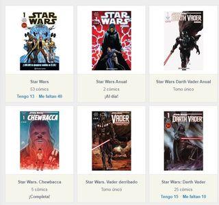 Colección cómics STAR WARS (76 cómics y 2 tomos)