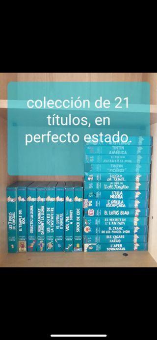 Regalo 21 películas de tintin VHS en catalán
