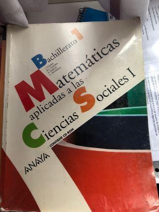Libro matemáticas 1o bachillerato