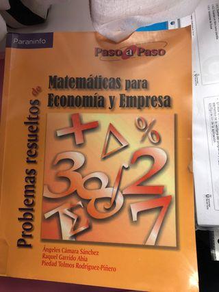 Libro matemáticas para Economia y empresa
