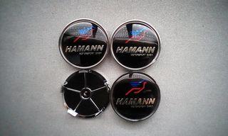 4 Tapabujes centro de ruedas Hamann color 68mm.