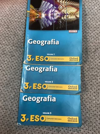 Libros de texto geografia 3r ESO
