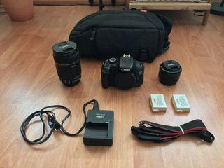 Cámara Réflex Canon 600D + 2 Objetivos & Más