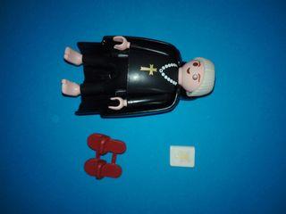 Playmobil monje medieval cura sacerdote Iglesia