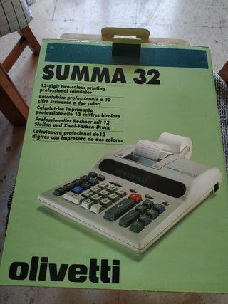 Calculadora Profesional Olivetti Summa 32