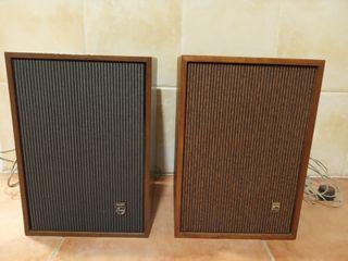 Altavoces Philips vintage (22GL559 y A5059)
