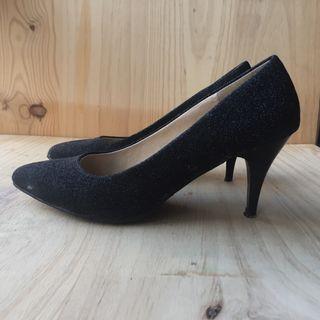 Zapatos glitter tacón medio