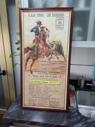 cartel plaza de toros los Barreros año 1987