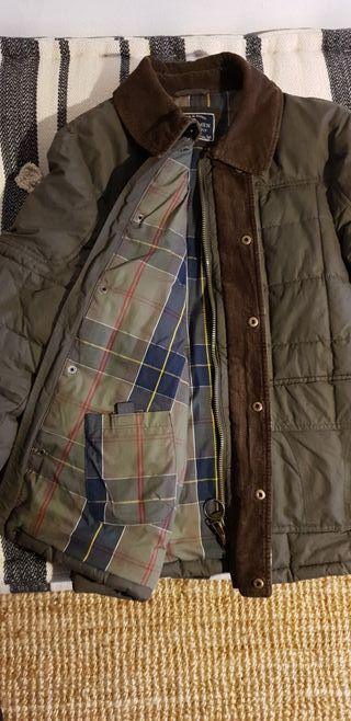 Abrigo verde estilo Barbour de Sfera Man