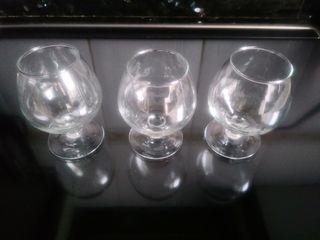 3 copas coñac