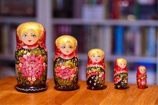 Matrioska 5 piezas muñeca rusa