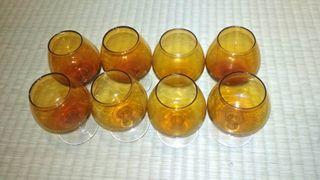 copas coñac ambar antiguas vintage