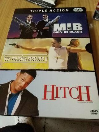 pelicula dvd triple accion mib hitch y dos policia