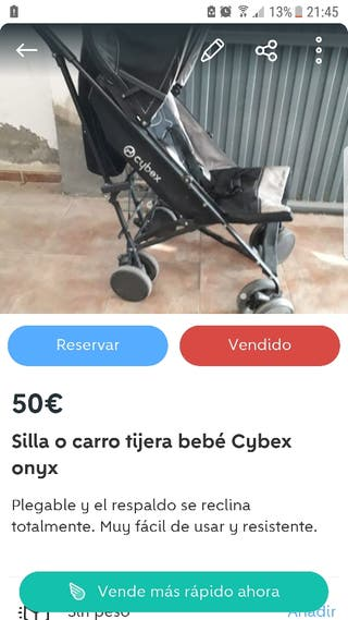 REBAJADO 35€. carro silla de bebé de tijera Cybex