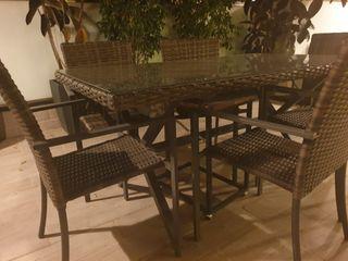 Mesa exterior comedor rattan