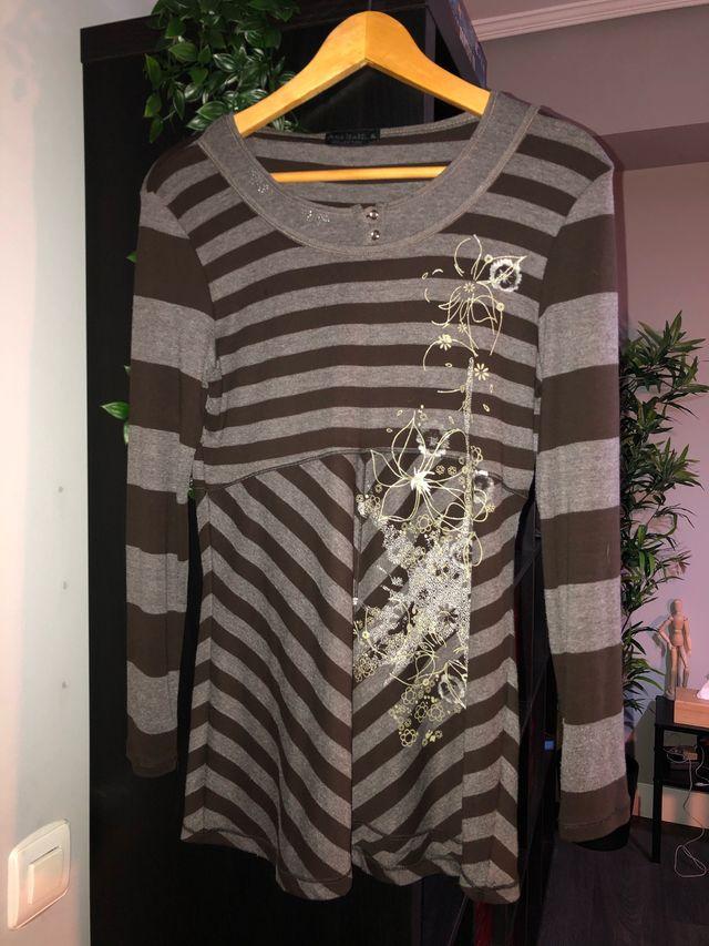 Camiseta de rayas manga larga