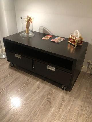 Mesa de salón para tv con dos cajones