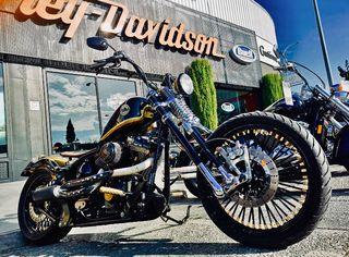 Harley Davidson Softail transformada.