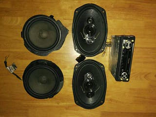 conjunto música coche Pioneer