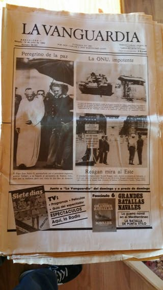 "Periódicos Viejos ""La Vanguardia"""