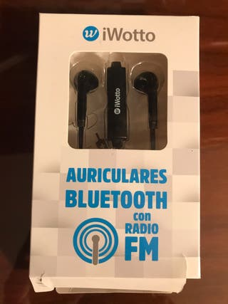 Auriculares bluetooth con radio FM