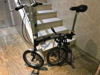 Bici plegable 16'' de aluminio 3 cambios