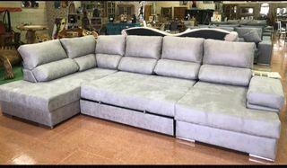 Sofá cama chaise longue rinconera